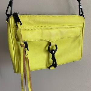 Rebecca Minkoff Mini Mac Yellow w/ Black Hardware